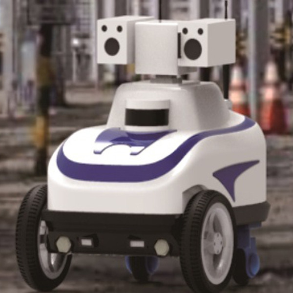 轮式小型两驱智能巡检机器人